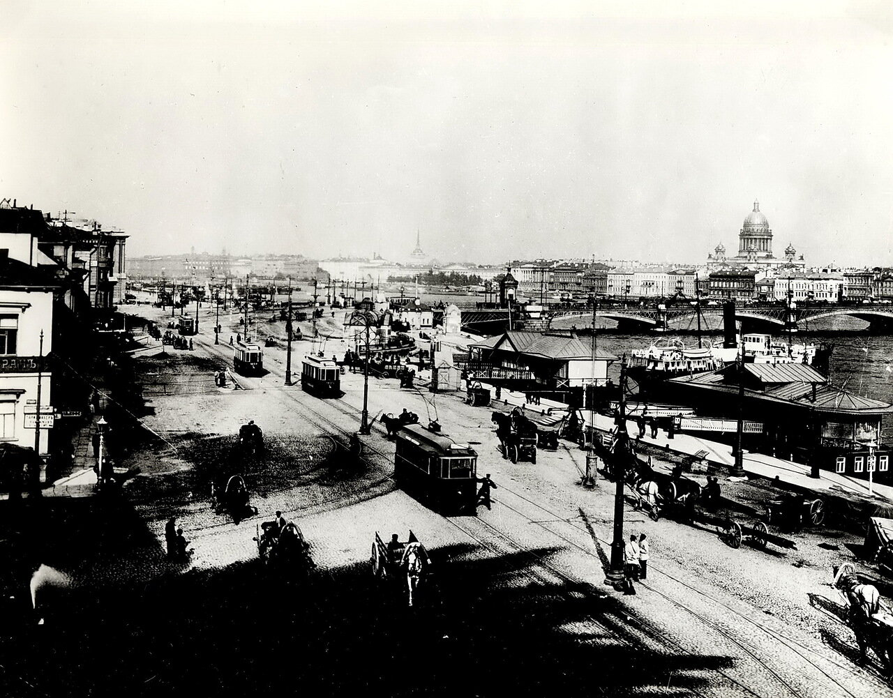 Николаевская наб. Благовещенский мост, около 1903 г.