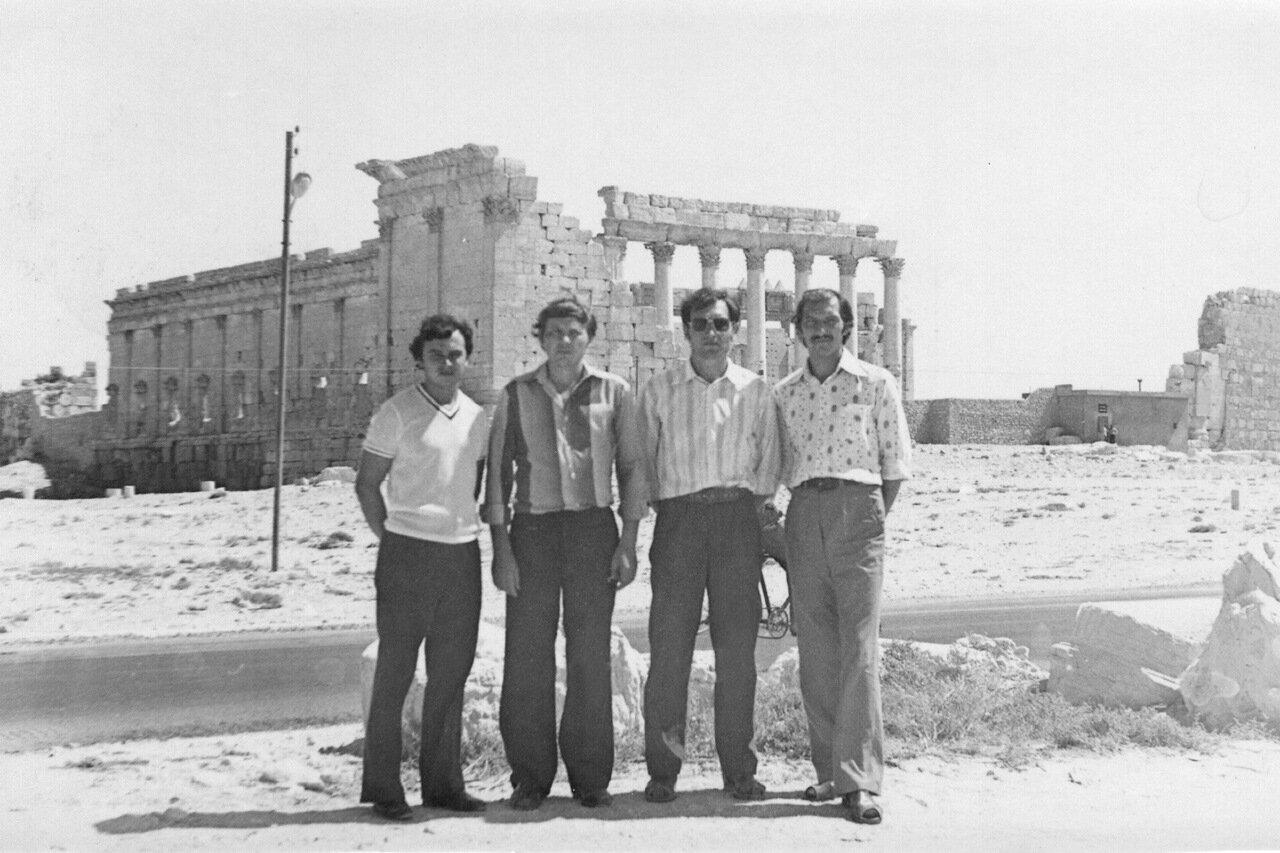 1981.Сирия, Пальмира. Рыжов, Букатин, ст.б-т Свистунов