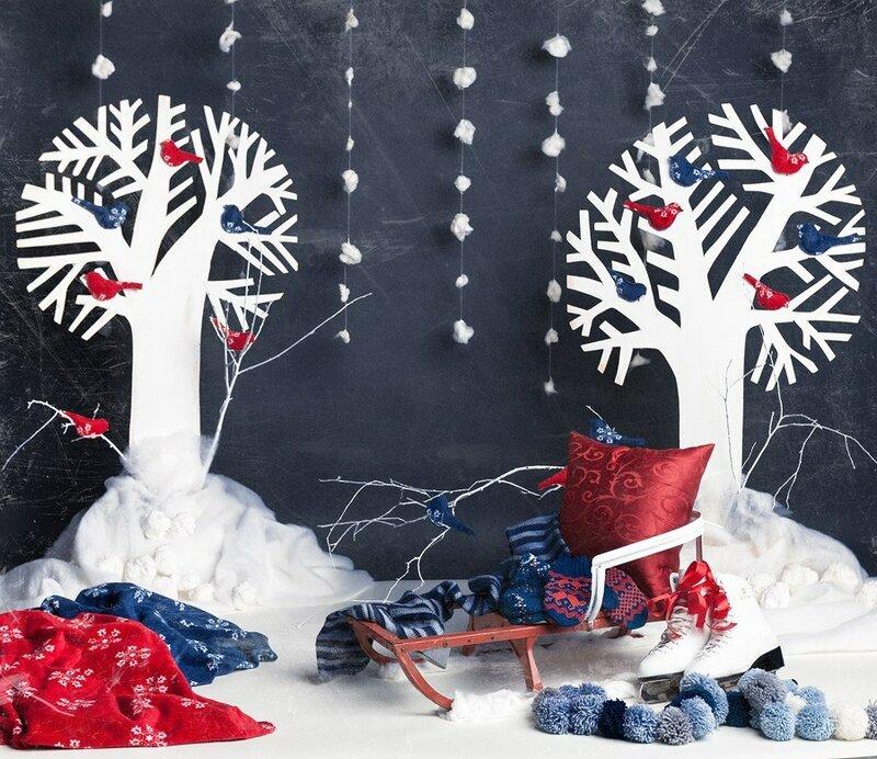 Декорации зимнего леса своими руками