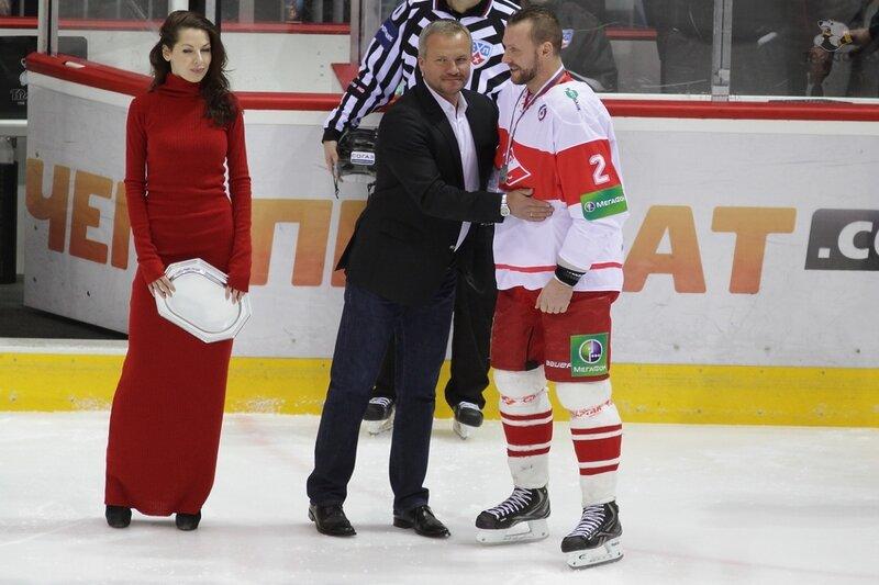 «Трактор» vs «Спартак» 3:2 чемпионат КХЛ 2013-2014 (Фото)