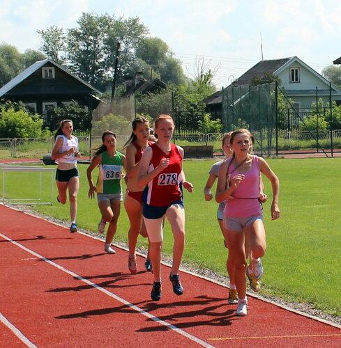 Наталья Запальская бежит под номером 278