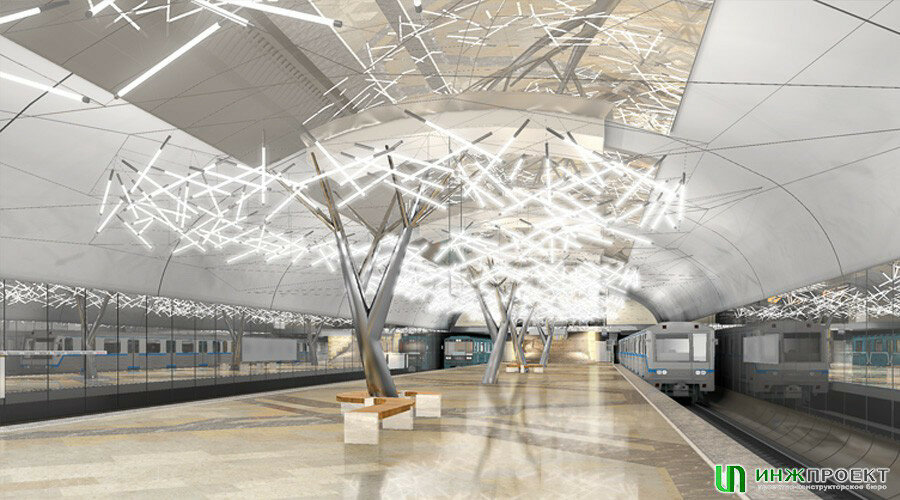 Первоначальный проект станции Тропарёво пришлось изменить из-за требований эксплуатации. Мосинжпроект