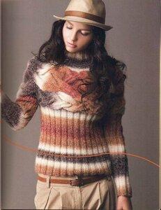 Окутанная косами - пуловер от Nak Yang Наши воплощения