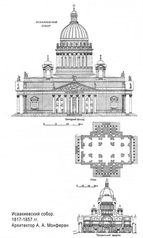Исаакиевский собор в Санкт-Петербурге, чертежи