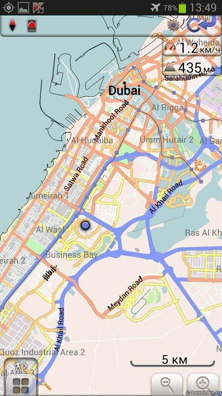 Скриншот карты на смотровой Бурдж Халифа
