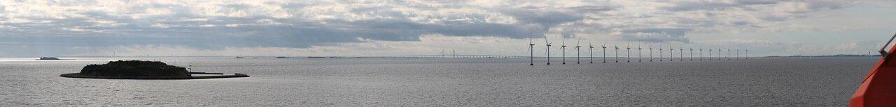 the Strait of Oresund, Öresund, panorama