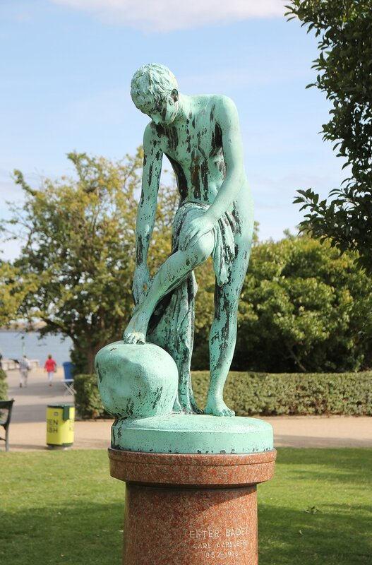Copenhagen. Sculpture 'After the bath'
