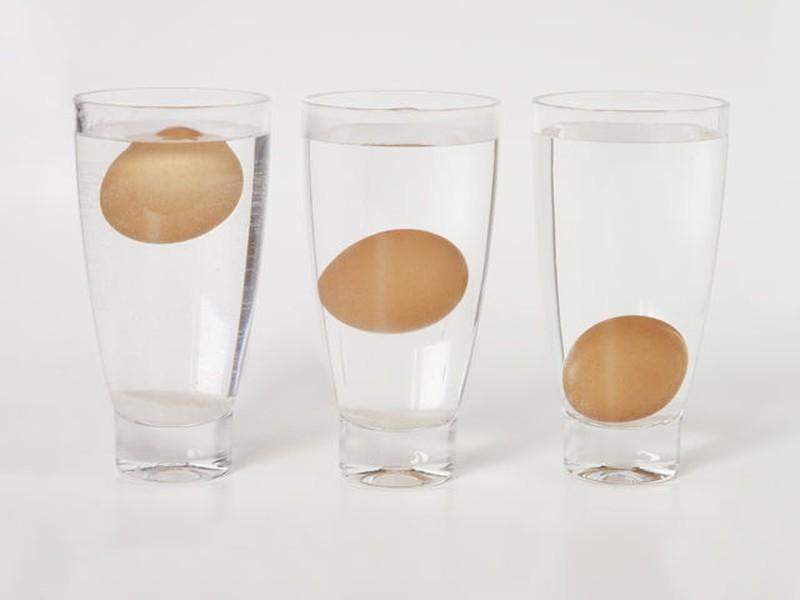 1. Узнайте свежесть яиц Если вы не уверены, что яйца в вашем холодильнике свежие, просто опустите их