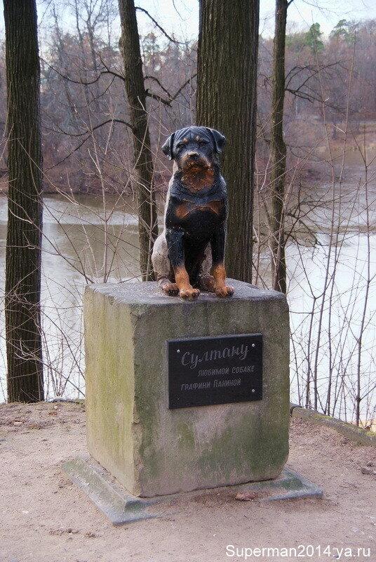 """усадьба """"Марфино"""" - памятник собаке"""