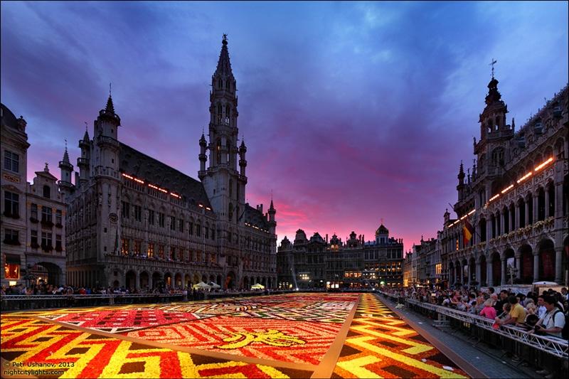 Цветочный ковер в Брюсселе
