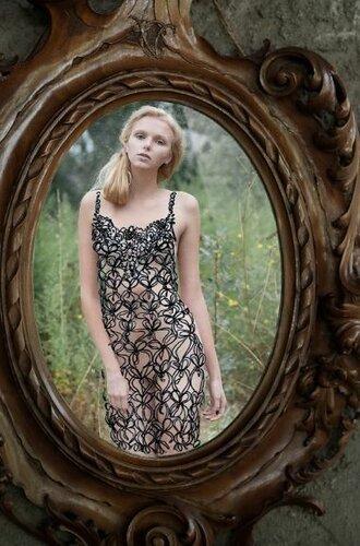 Нарисованные платья в фотосесии итальянских мастеров