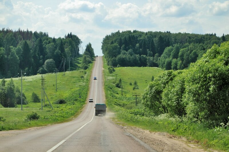 Дорога в сторону Рогачевского шоссе