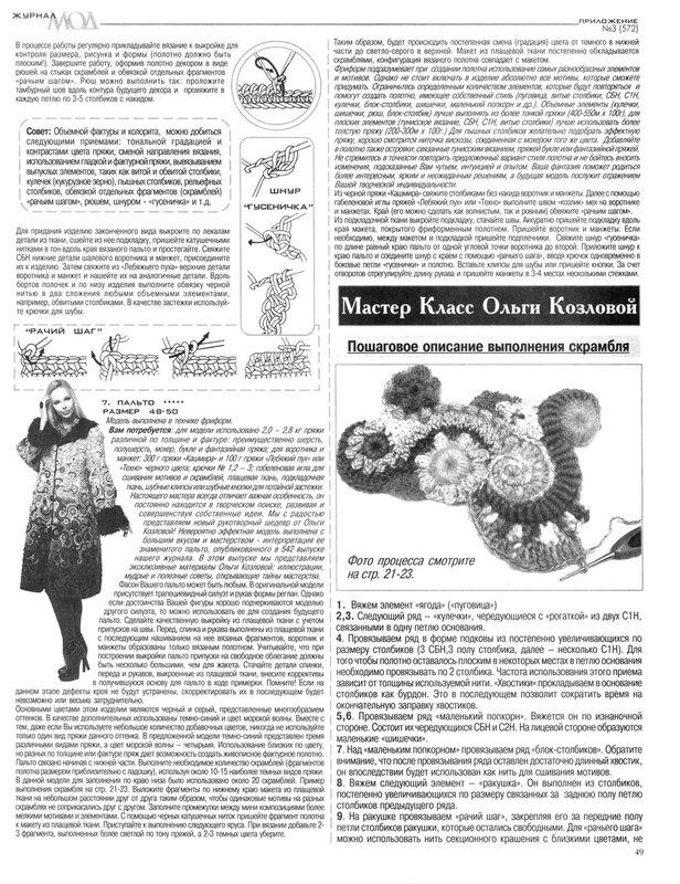 Читать i журнал мод вязание