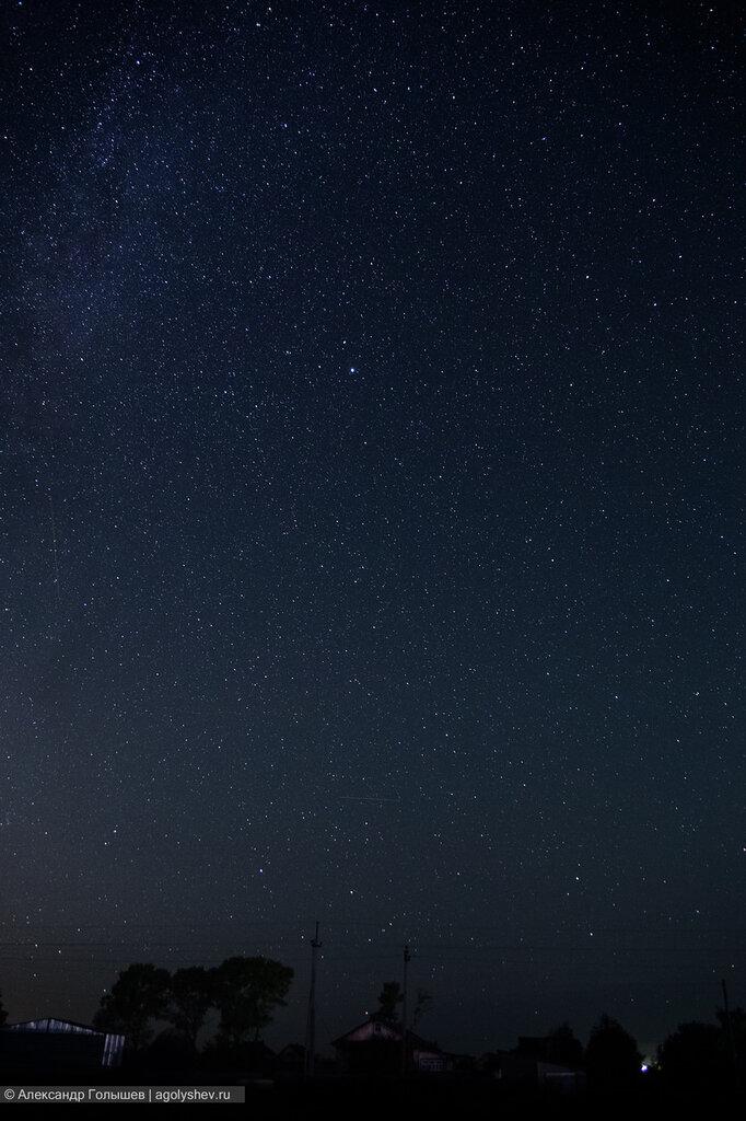 Ночное звездное небо