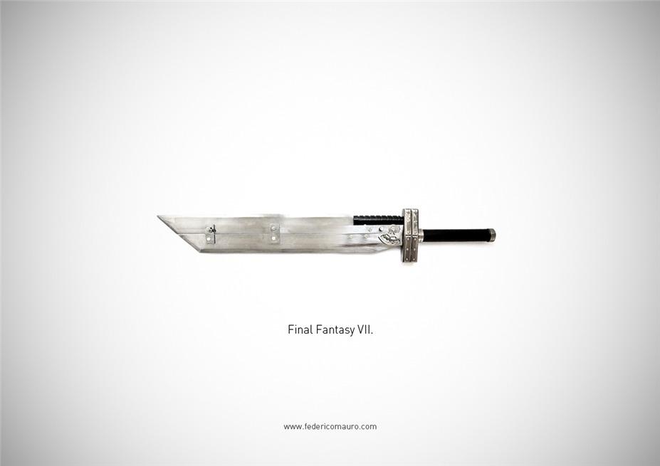 Знаменитые клинки, ножи и тесаки культовых персонажей / Famous Blades by Federico Mauro - Final Fantasy VII