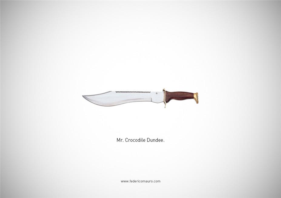 Знаменитые клинки, ножи и тесаки культовых персонажей / Famous Blades by Federico Mauro - Crocodile Dundee