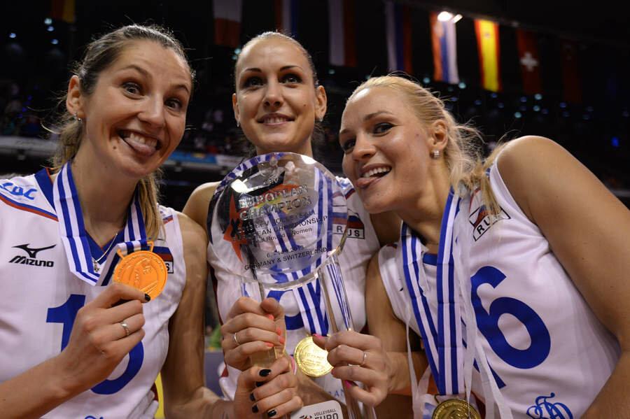 Волейболистки сборной России стали пятикратными чемпионками Европы