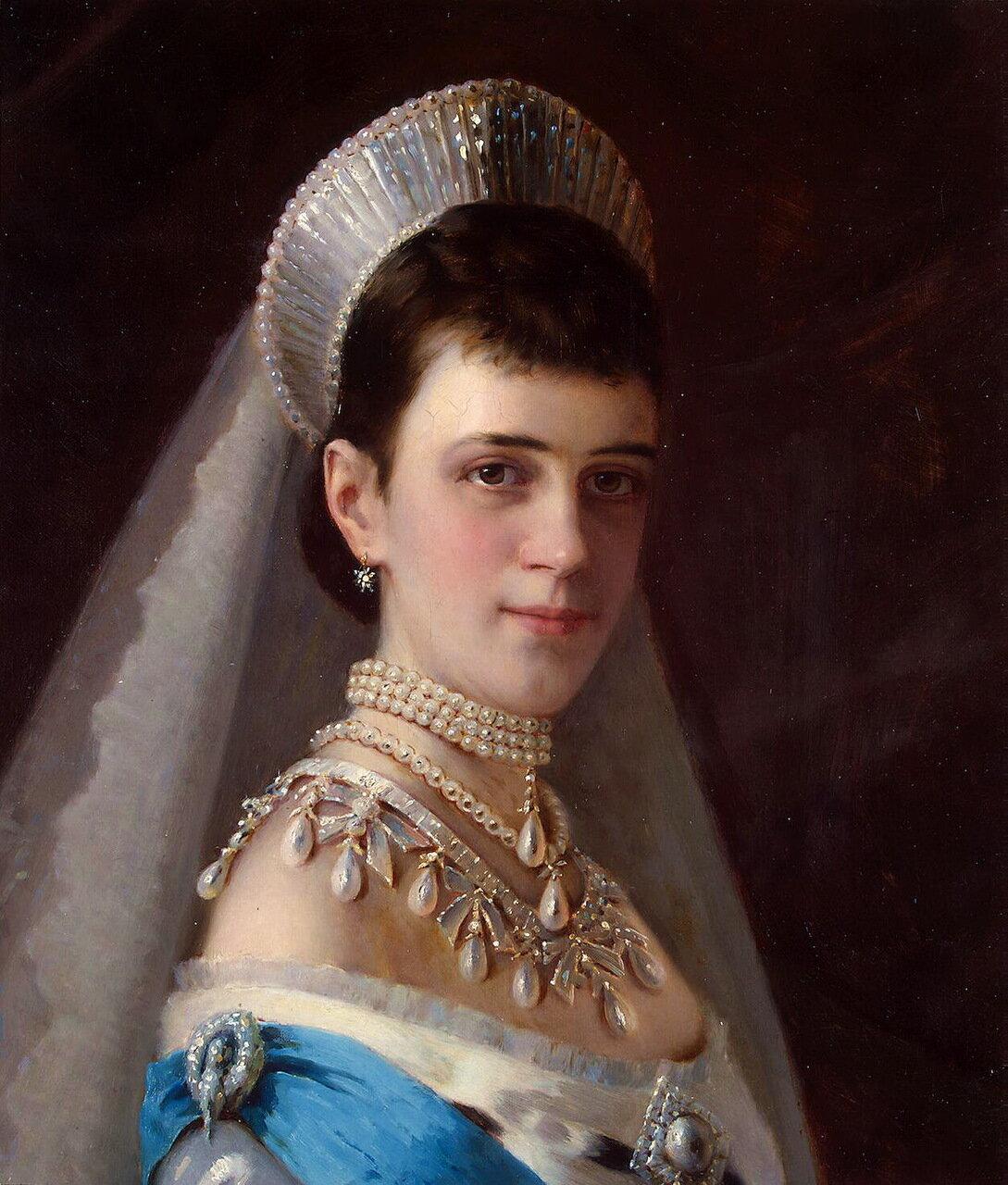 Иван Николаевич Крамской (1837-1887). Портрет императрицы Марии Фёдоровны в жемчужном уборе