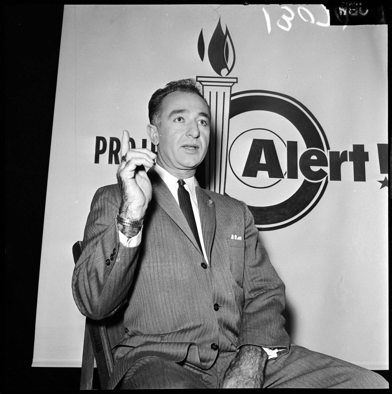 1961.13 декабря. Проект Тревога (антикоммунистическая конференция). Полковник Митчелл Пэйдж (морская пехота США, в отставке)