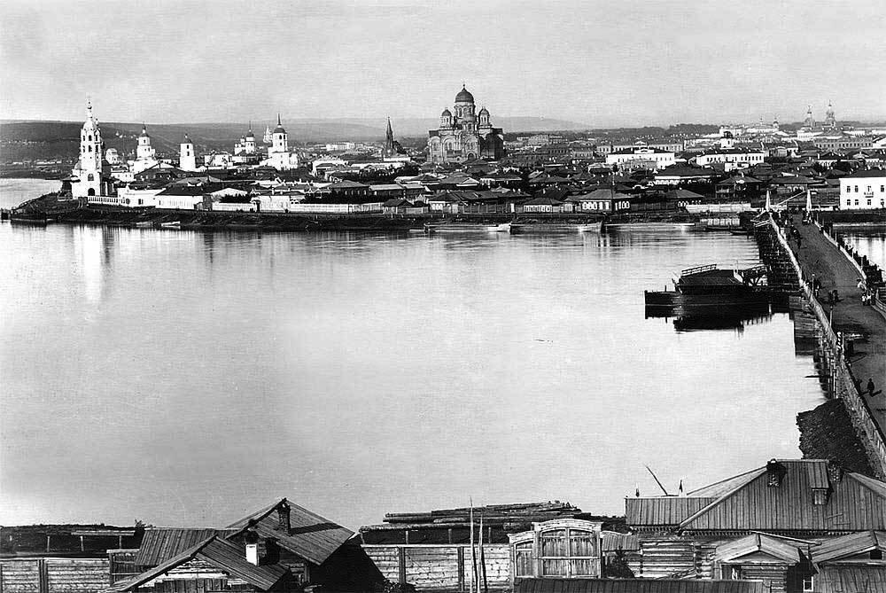 Вид на город из Глазковского предместья