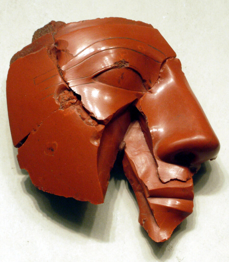 Fragmentary head of a king, made in Egypt, c.1400-1390 BC.jpg