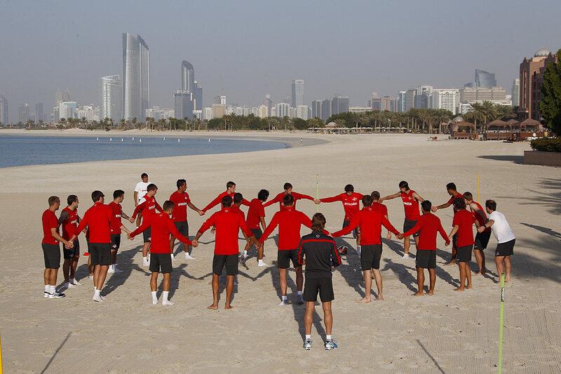 «Спартак» продолжает работу на сборе в ОАЭ (Фото)
