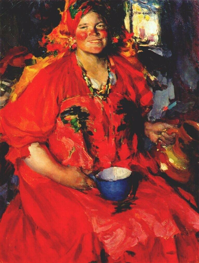 Абрам Ефимович Архипов:  Девушка с кувшином 1927