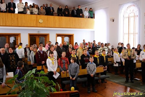 Посвящение в следопыты ребят в деревне Пожарки