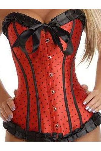 Женский карнавальный костюм Корсет Красный
