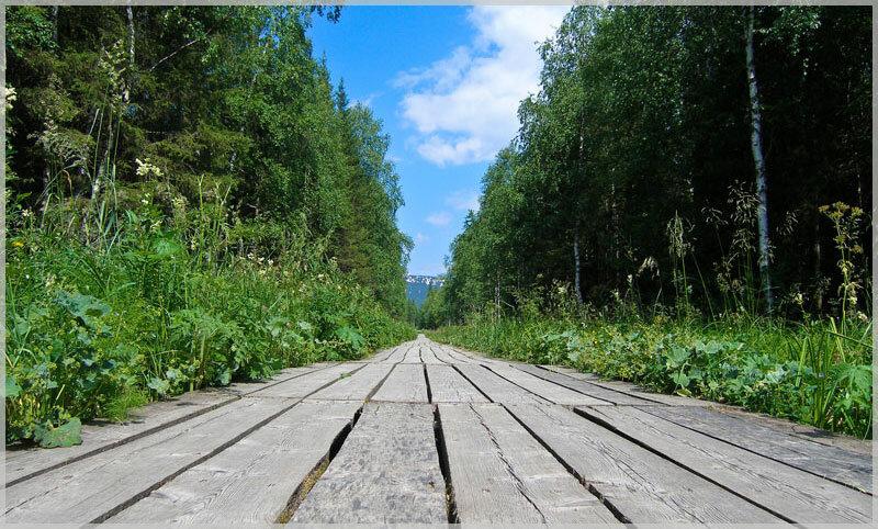 Дорога на вершину хребта Зюраткуль (21.06.2013)