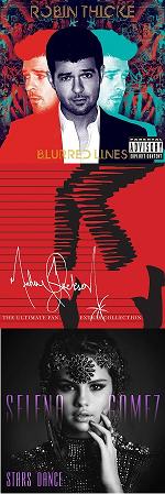 Рецензии на альбомы Robin Thicke / Michael Jackson / Selena Gomez