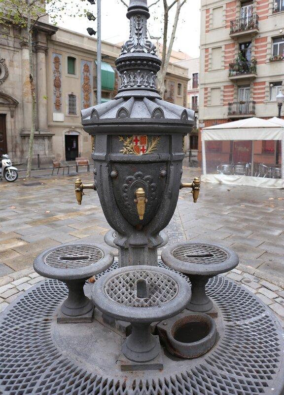 Barcelona, Plaza Barceloneta,  Барселона. Площадь Барселонета.