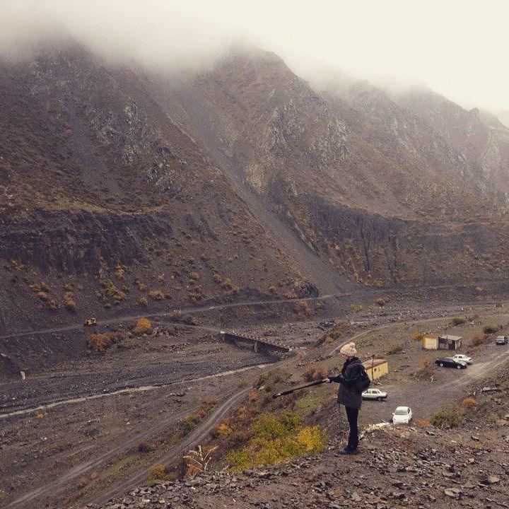 Записываю звук в Дагестане рядом с програнзаставой.