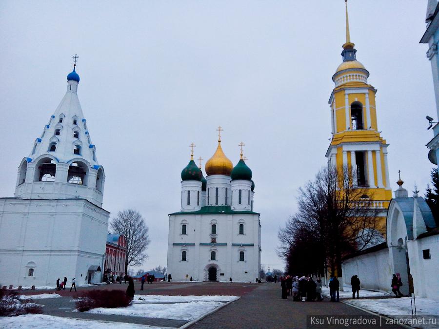 Коломна, Подмосковье, поездка, #ilovekolomna, Соборная площадь Коломенского кремля