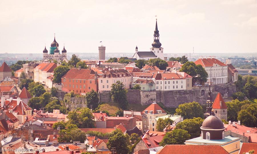 Эстония, Таллин, Вид на Вышгород, Toompea