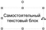 Рис. 5.6. Перемещая маркеры, расположенные на границах объекта, вы можете придать надписи размер, подходящий для размещения текста