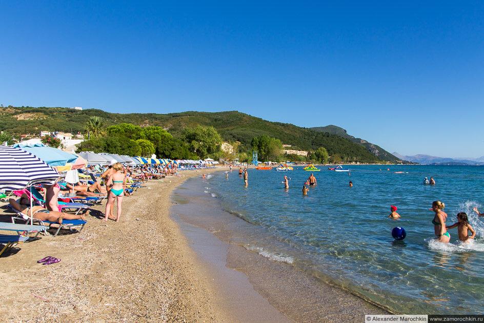 Мораитика (Корфу), пляж