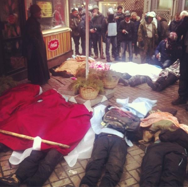 Police Kill Protestors.