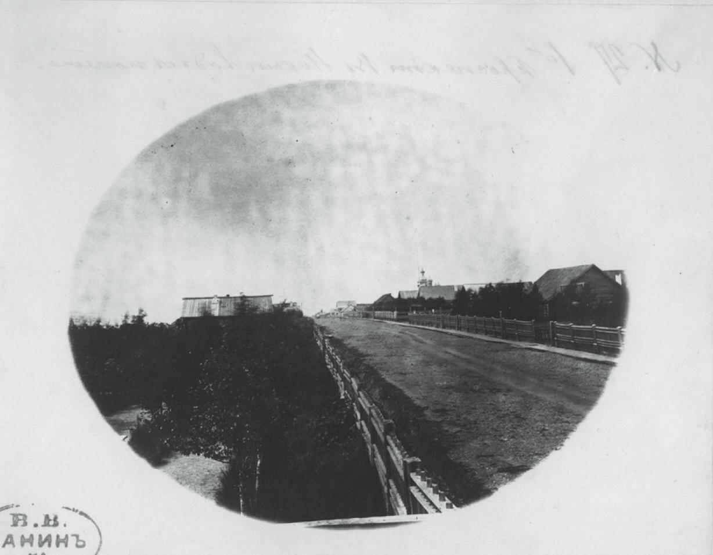 Вид на Первый проспект в Николаевске с птичьего полета
