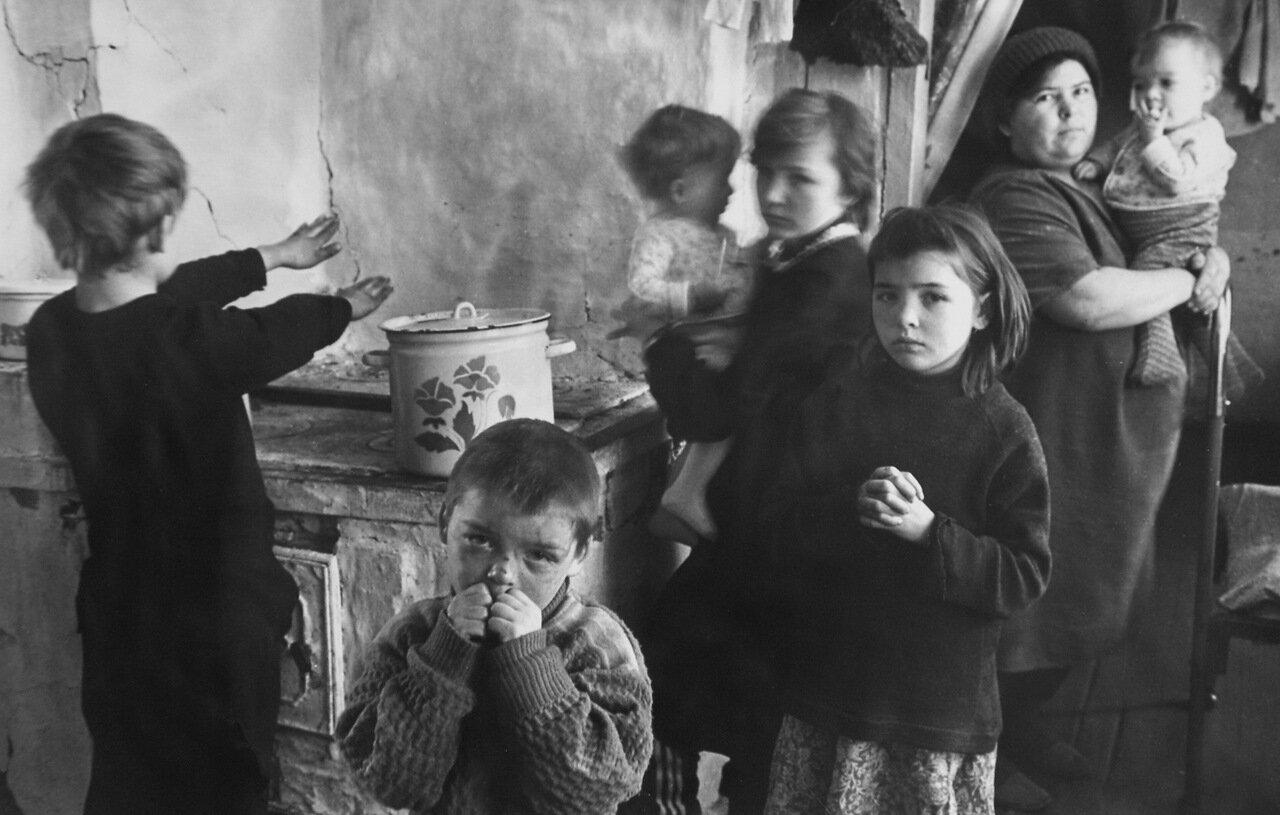 Многодетная семья М. А. Тимофеевой, телятницы совхоза Шишкинский