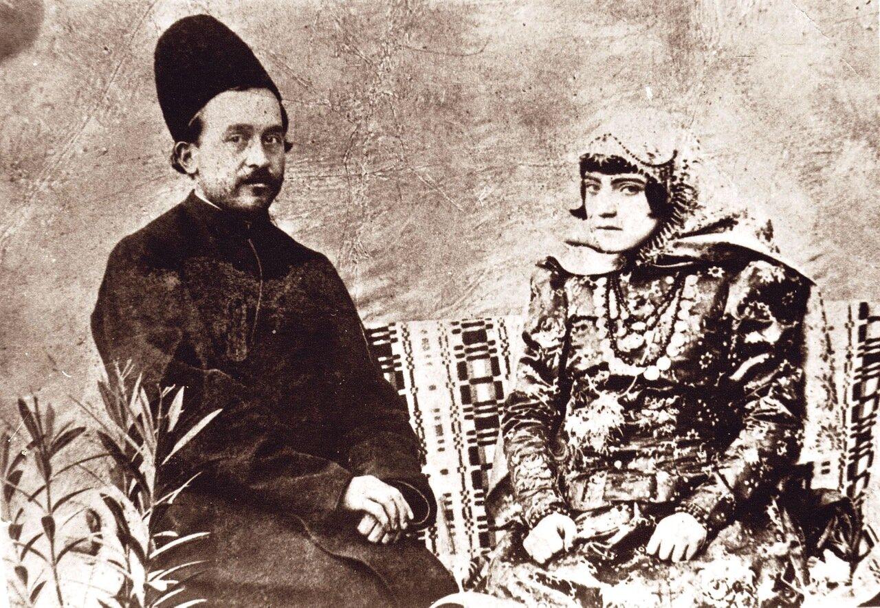 Свадебный портрет Даниэля и Рахиль Сиддик Иршади, Хамадан, ок. 1900