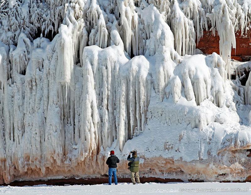 Великие озера сковали льды