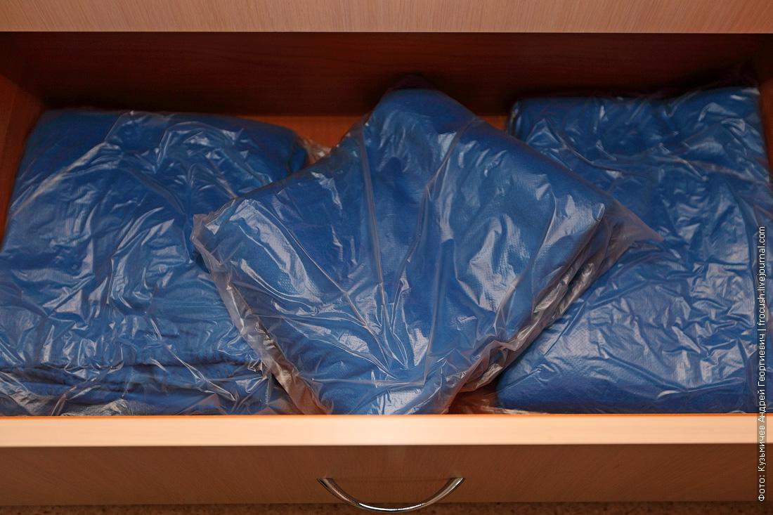 пледы в шкафу