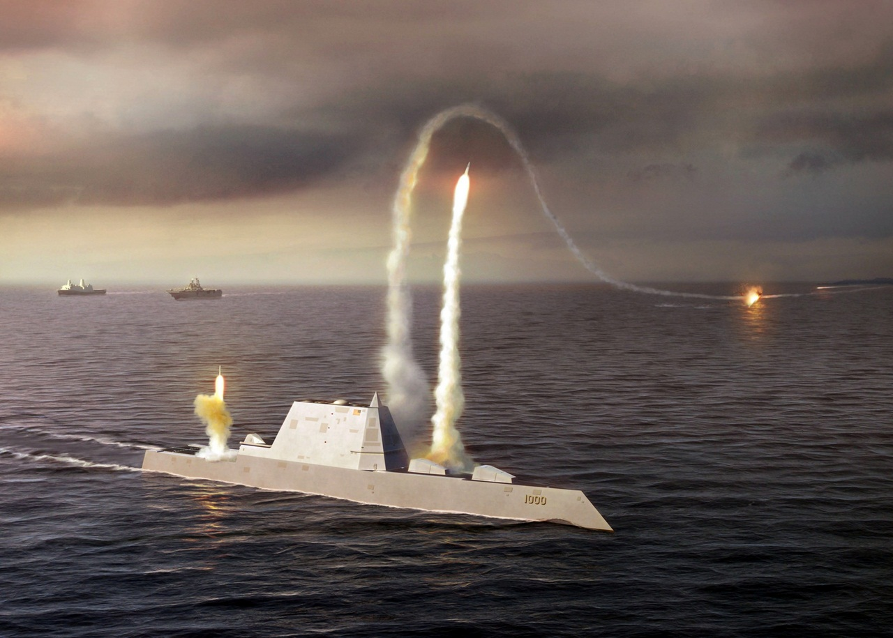 080723-N-0000X-001 An artist rendering of the Zumwalt class destroyer DDG 1000, a new class of multi-mission U.S. Navy surface combatant ship designed to operate as part of a joint maritime fleet, assisting Marine strike forces ashore as well as performi