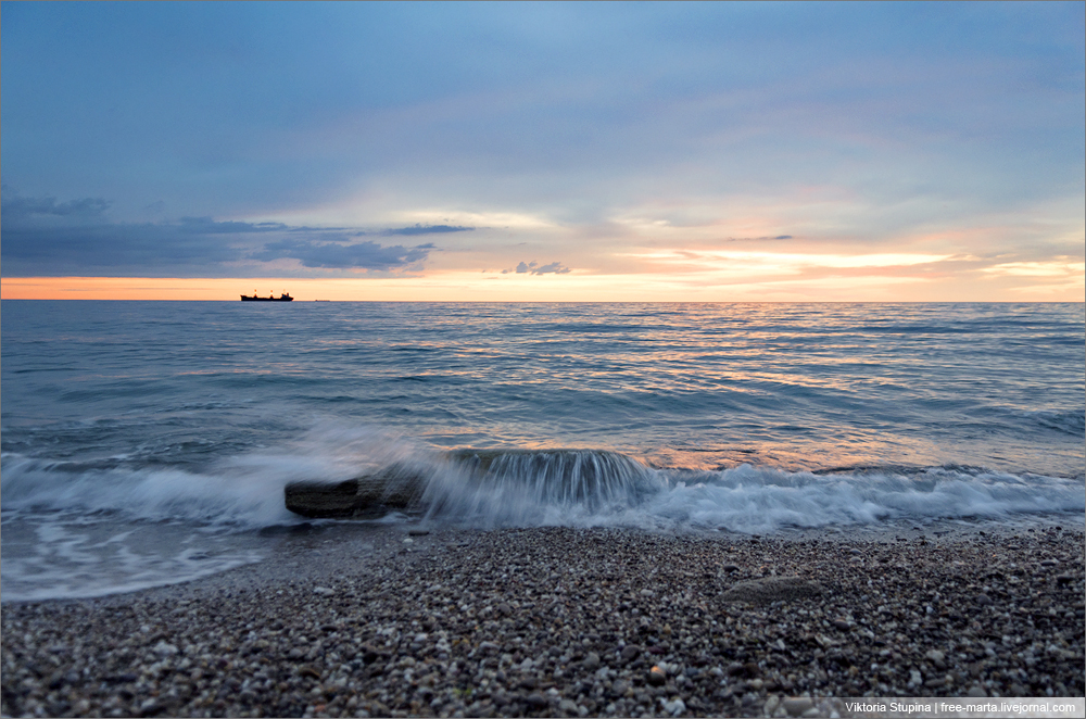 закаты черного моря