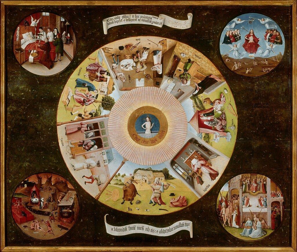 8.1.Семь смертных грехов (столешница) (1480-1485) (120 х 150) (Прадо, Мадрид).jpg