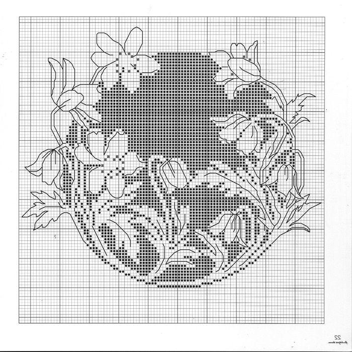 Цветы монохром