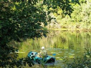 И зимой, и летом на Рябчинском озере рыбаки!