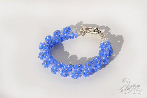 Альбом пользователя Юленька_Лебедь: Браслет голубые цветы2.JPG