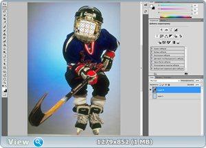 "Шаблон для фотошопа ""Маленький хоккеист"""